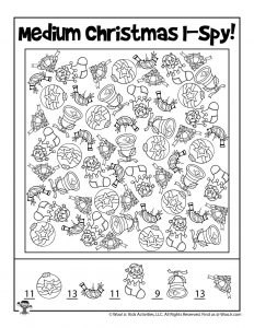 Free I Spy Printable Christmas Game - KEY