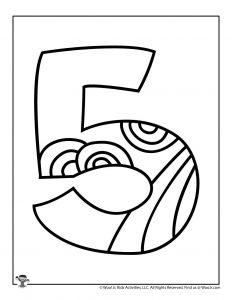 Fancy Bubble Letters Number 5