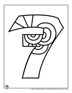 Fancy Bubble Letters Number 7