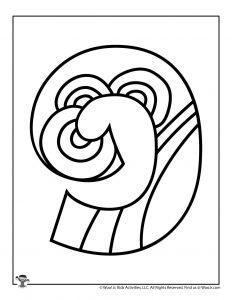 Fancy Bubble Letters Number 9