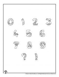 Fancy Bubble Letters Number Set