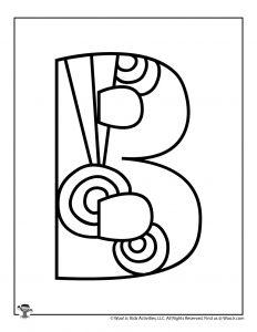 Fancy Bubble Letter B