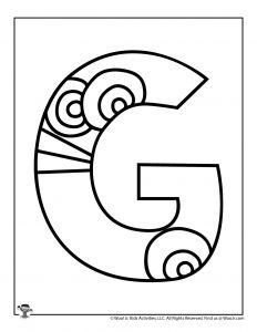 Fancy Bubble Letter G