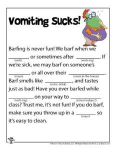 Gross Ad Libs Games to Print for Kids