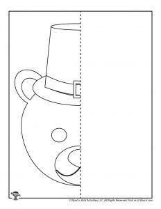 Bear Thanksgiving Symmetrical Drawing Practice