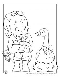 6 Geese a Laying Christmas Carol Activity Page