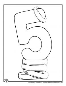 5 Gold Rings 12 Days of Christmas Coloring Page