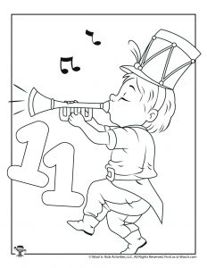 11 Pipers Piping Coloring Page for Kids