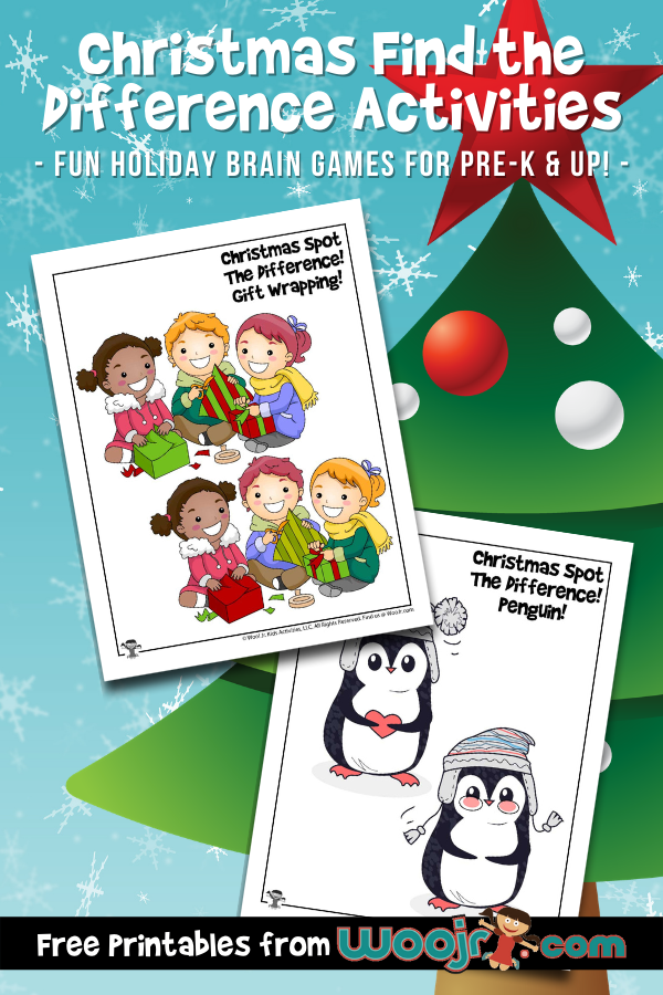 Christmas Find the Difference Activities