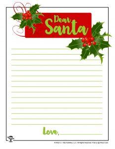 Dear Santa Printable Christmas Letter