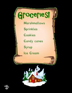 Elf on the Shelf Grocery List