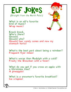 Christmas Elf on the Shelf Jokes