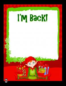 Elf on the Shelf I'm Back Letter to Kids