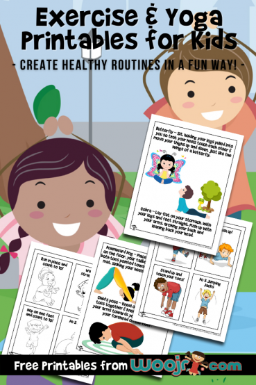 Exercise & Yoga Printables for Kids