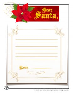 Fancy Printable Santa Letter to Fill Out