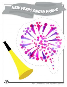 Fireworks Printable New Years Party Activity