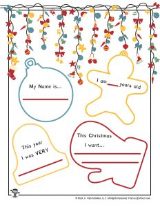 Free Dear Santa Letter Template Printable