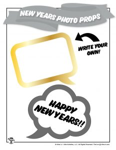Happy New Years Speech Bubble