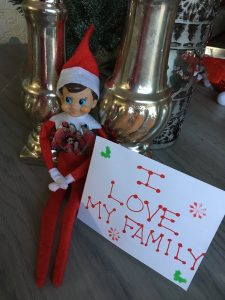 Christmas Elf Loves His Family