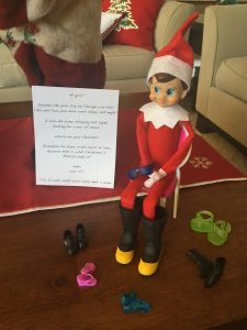 Elf on the Shelf Goes Shoe Shopping