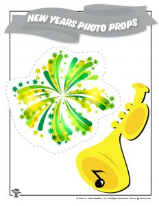 New Years Music Fireworks Photo Booth Prop