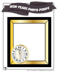 New Years Photo Frame Cutout Printable