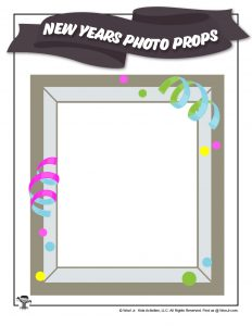 New Years Photo Frame for Kids