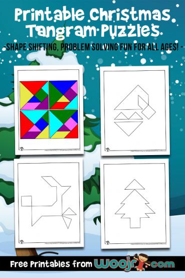 Printable Christmas Tangram Puzzles