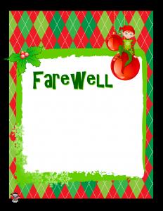 Elf on the Shelf Farewell Letter