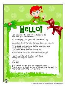 Elf on the Shelf Arrival Letter from North Pole