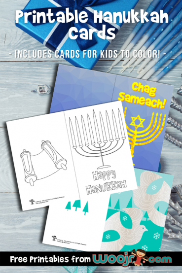 Printable Hanukkah Cards