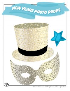 New Years Top Hat Photo Prop