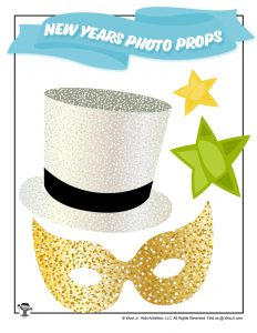 Printable New Years Mask for Photoshoot