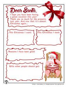 Santa Letter Template for Kids