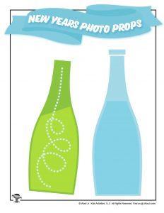 Sparkling Fruit Juice Bottles Photo Props