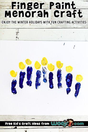 Finger Paint Menorah Art Project