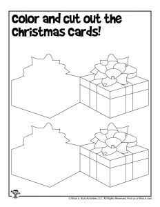 DIY Christmas Card Template to Cut & Paste