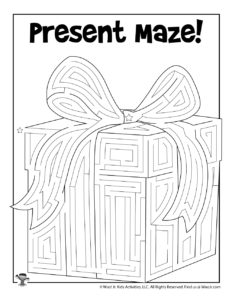 Christmas Gift Maze for Kids