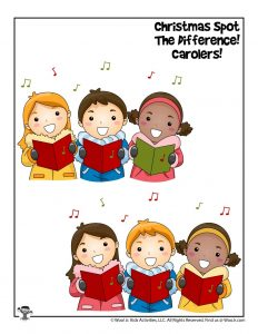 Christmas Carolers Find the Difference Game