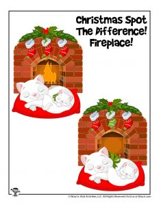 Christmas Fireplace Spot the Difference