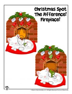 Christmas Spot the Difference Activity Page - ANSWER KEY