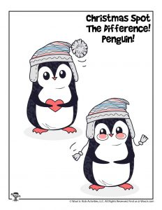 Penguins Find the Difference Puzzle