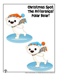 Polar Bear Find the Difference Activity Worksheet