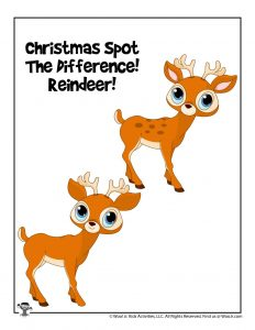 Reindeer Christmas Puzzle Game for Kids