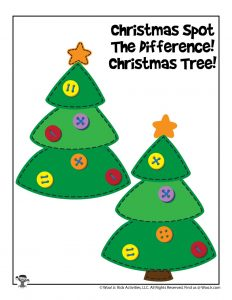 Christmas Tree Comparing Differences Game