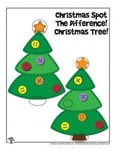 Christmas Tree Find the Differences - KEY