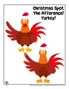 Preschool Spot the Difference Turkey