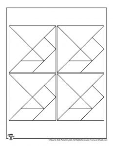 Color Your Own Blank Tangram Puzzle Pieces