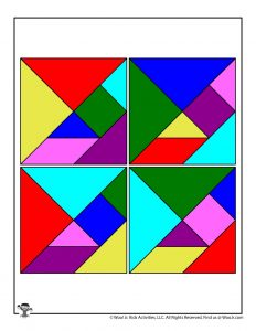 Printable Christmas Tangrams Puzzle Pieces