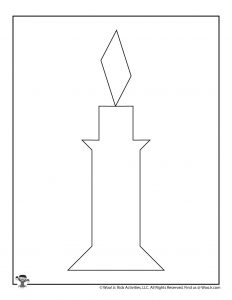 Christmas Candle Tangrams Puzzle Activity